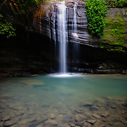 Flowing Buderim Falls in Sunshine Coast hinterland