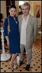 Duran Duran band Member Nick Rhodes with his Girlfriend Nefer Suvio  attend the National Youth Orchestra of The United States of America Reception at the <br /> The Royal Albert Hall hosted be Ronald O.Perelman, London, United Kingdom,<br /> Sunday, 21st July 2013<br /> Picture by Andrew Parsons / i-Images