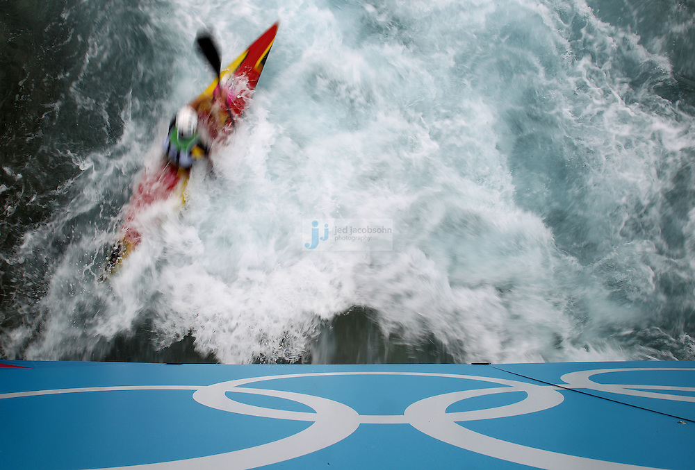 Samuel Hernanz of Spain competes during the semifinals of the kayak slalom single 1k event at the Lee Valley White Water Centere during day 5 of the London Olympic Games London, England, United Kingdom on August 1, 2012..(Jed Jacobsohn/for The New York Times)....