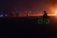 It was fun biking through this moving carpet of embers taken by the wind. My Burning Man 2018 Photos:<br />