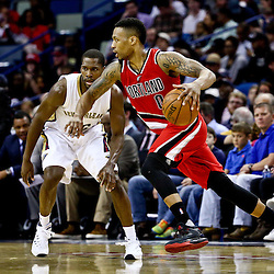 Mar 18, 2016; New Orleans, LA, USA; Portland Trail Blazers guard Damian Lillard (0) New Orleans Pelicans during the second half of a game at the Smoothie King Center. The Trail Blazers defeated the Pelicans 117-112.  Mandatory Credit: Derick E. Hingle-USA TODAY Sports