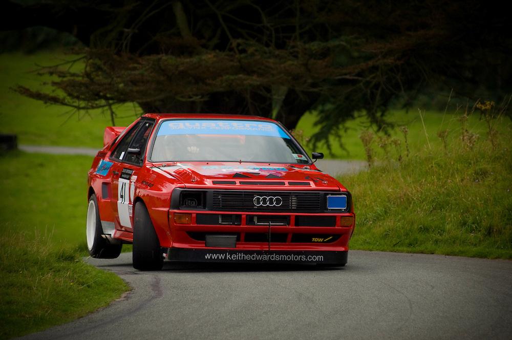 Audi Quattro, hillclimb racing, Loton Park, near Shrewsbury, Shropshire, England, UK.
