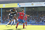 Picture by David Horn/Focus Images Ltd +44 7545 970036.08/09/2012.Britt Assombalonga  of Southend United scores during the npower League 2 match at Roots Hall, Southend.