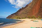 Milolii Beach, Napali Coast, Kauai, Hawaii