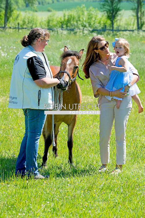 3-6-2016 VISBY GOTLAND SWEDEN - Princess Madeleine  and Mr Christopher O&rsquo;Neill visit Gotlad with their daughter Princess Leonore Princess Madeleine, Mr Christopher O&rsquo;Neill and H.R.H. Princess Leonore, Duchess of Gotland,  Duchess Leonore meets her horse Haidi of Gotland for the first time and they visit the Visit to the exhibition Skepp &amp; Skoj (Ship and fun) at Gotland Museum COPYRIGHT ROBIN UTRECHT <br /> 2016/03/06 VISBY GOTLAND ZWEDEN - Prinses Madeleine en de heer Christopher O'Neill bezoeken Gotlad met hun dochter Leonore Princess Prinses Madeleine, de heer Christopher O'Neill en H.R.H. Prinses Leonore, Hertogin van Gotland, Hertogin Leonore ontmoet haar paard Haidi van Gotland voor de eerste keer en ze bezoeken het bezoek aan de tentoonstelling Skepp &amp; SKOJ (Ship and fun) op Gotland Museum COPYRIGHT ROBIN UTRECHT
