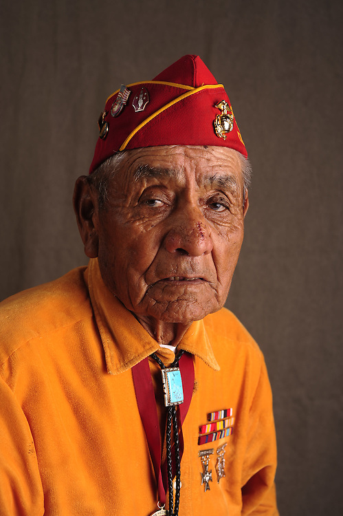 Navajo Code Talker George Willie.