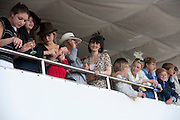 GEORGIA COLERIDGE; COURTNEY LOVE IN THE DUKE OF RICHMOND BOX, Glorious Goodwood. Ladies Day. 28 July 2011. <br /> <br />  , -DO NOT ARCHIVE-© Copyright Photograph by Dafydd Jones. 248 Clapham Rd. London SW9 0PZ. Tel 0207 820 0771. www.dafjones.com.