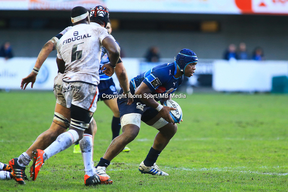 Bobins TCHALE WATCHOU - 20.12.2014 - Montpellier / Stade Toulousain - 13eme journee de Top 14 -<br /> Photo : Nicolas Guyonnet / Icon Sport