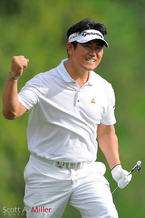 Y.E. Yang in action during the final round of PGA Championship