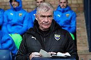Oxford United manager Karl Robinson during the EFL Sky Bet League 1 match between Southend United and Oxford United at Roots Hall, Southend, England on 6 October 2018.