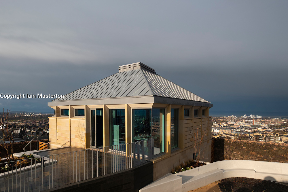 Edinburgh, Scotland, UK. 21 November, 2018. The historic City Observatory on Calton Hill will reopen as The Collective, an arts organisation and will feature the restored City Observatory, City Dome, and a purpose-built exhibition space as well as The Lookout , a new restaurant run by The Gardener's Cottage owners. It opens to the public on 24 November, 2018. Pictured; The Lookout restaurant. ++ Editorial Use Only ++