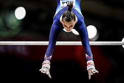 October 28, 2018 - Doha, Quatar - Louise Vanhille of  France   during  Uneven Bars qualification at the Aspire Dome in Doha, Qatar, Artistic FIG Gymnastics World Championships on 28 of October 2018. (Credit Image: © Ulrik Pedersen/NurPhoto via ZUMA Press)
