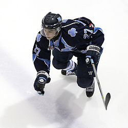 TORONTO, ON - SEP 11:  Cameron Wright #27 of the St.Michael's Buzzers skates after the puck in the second period. OJHL regular season game between the St.Michael's Buzzers and the Georgetown Raiders St.Michael's Buzzers and Georgetown Raiders  on September 11, 2016 in Toronto, Ontario. (Photo by Tim Bates / OJHL Images)