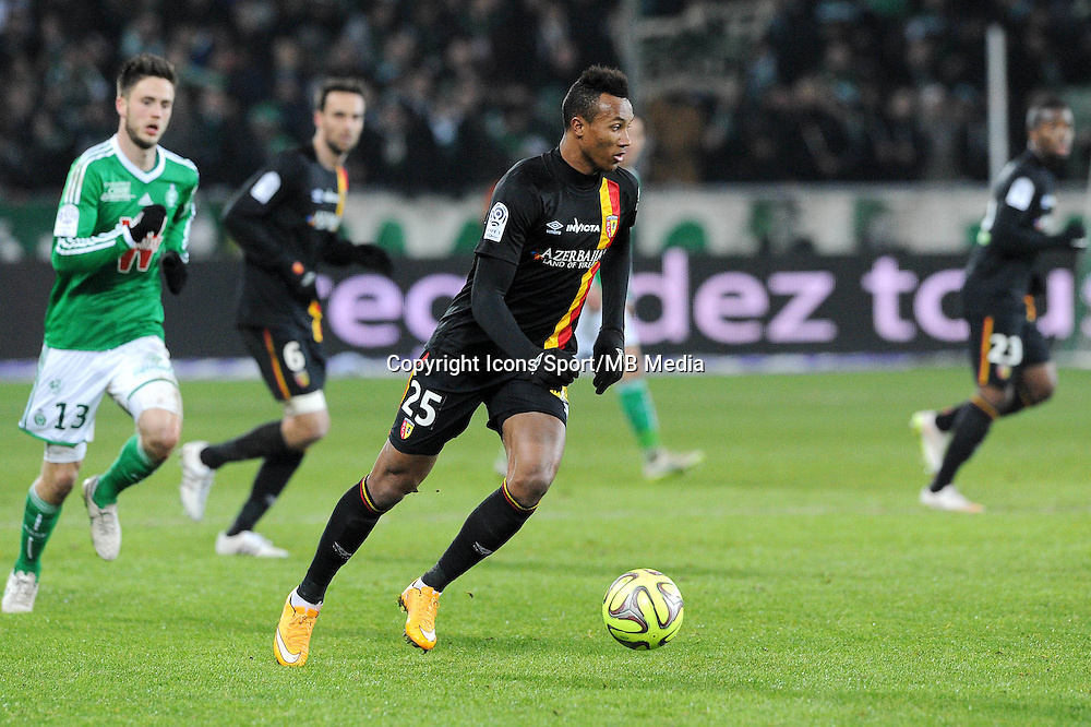 Jean Philippe GBAMIN  - 06.02.2015 - Saint Etienne / Lens - 24eme journee de Ligue 1 -<br /> Photo : Jean Paul Thomas / Icon Sport