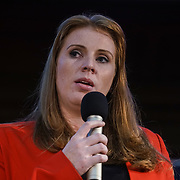 London, UK, 24th October 2017. Speaker Angela Rayner Labour MP is a Shadow Secretary of State for Education at the Rally Against School Cuts with over 1,000 parents and school staff lobbying more than two-thirds of the MPs in England and Wales at Emmanuel Centre.