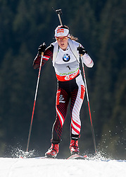 INNERHOFER Katharina of Austria competes during Women 10 km Pursuit competition of the e.on IBU Biathlon World Cup on Saturday, March 8, 2014 in Pokljuka, Slovenia. Photo by Vid Ponikvar / Sportida
