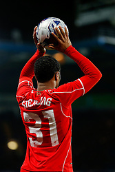 Raheem Sterling of Liverpool takes a throw in during extra time - Photo mandatory by-line: Rogan Thomson/JMP - 07966 386802 - 27/01/2015 - SPORT - FOOTBALL - London, England - Stamford Bridge - Chelsea v Liverpool - Capital One Cup Semi-Final Second Leg.