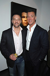 Left to right, brothers LORENZO FERTITTA and FRANK FERTITTA at a private view of Octagan a showcase of work of photographer Kevin Lynch featuring the stars of the Ultimate Fighter Championship held at Hamiltons gallery, Mayfair, London on 17th January 2008.<br />