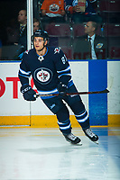 PENTICTON, CANADA - SEPTEMBER 8: Cristiano DaGiacinto #87 of Winnipeg Jets warms up against the Vancouver Canucks on September 8, 2017 at the South Okanagan Event Centre in Penticton, British Columbia, Canada.  (Photo by Marissa Baecker/Shoot the Breeze)  *** Local Caption ***