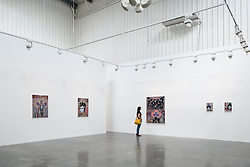 Lawrie Shabibi art gallery in warehouse in Alserkal Avenue arts district in Al Quoz in Dubai United Arab Emirates