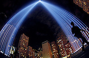 "The ""Tribute in Lights"" are seen over the skyline in New York, September 10, 2011. National and city leaders will commemorate on Sunday the ten-year anniversary of the attacks of 9/11 with a ceremony unveiling a memorial and museum.  REUTERS/Jim Young"