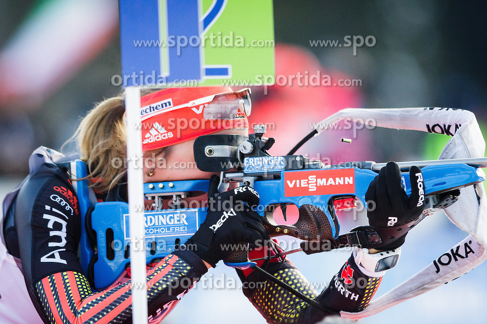 Franziska Preuss (GER) during Women 7,5 km Sprint at day 2 of IBU Biathlon World Cup 2015/16 Pokljuka, on December 18, 2015 in Rudno polje, Pokljuka, Slovenia. Photo by Ziga Zupan / Sportida