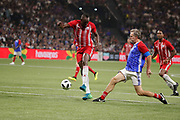 Usain Bolt (FIFA 98), Laurent Blanc (France 98) during the 2018 Friendly Game football match between France 98 and FIFA 98 on June 12, 2018 at U Arena in Nanterre near Paris, France - Photo Stephane Allaman / ProSportsImages / DPPI