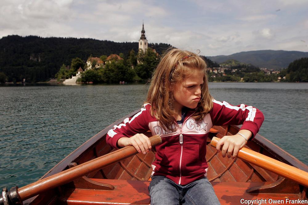 manui at lake bled, slovenia