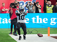 American Football - 2019 NFL Season (NFL International Series, London Games) - Tampa Bay Buccaneers vs. Carolina Panthers<br /> <br /> Curtis Samuel of the Panthers, celebrates his touch down  at Tottenham Hotspur Stadium.<br /> <br /> COLORSPORT/ANDREW COWIE