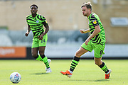 Forest Green Rovers Dayle Grubb(8) passes the ball forward during the EFL Sky Bet League 2 match between Forest Green Rovers and Newport County at the New Lawn, Forest Green, United Kingdom on 31 August 2019.