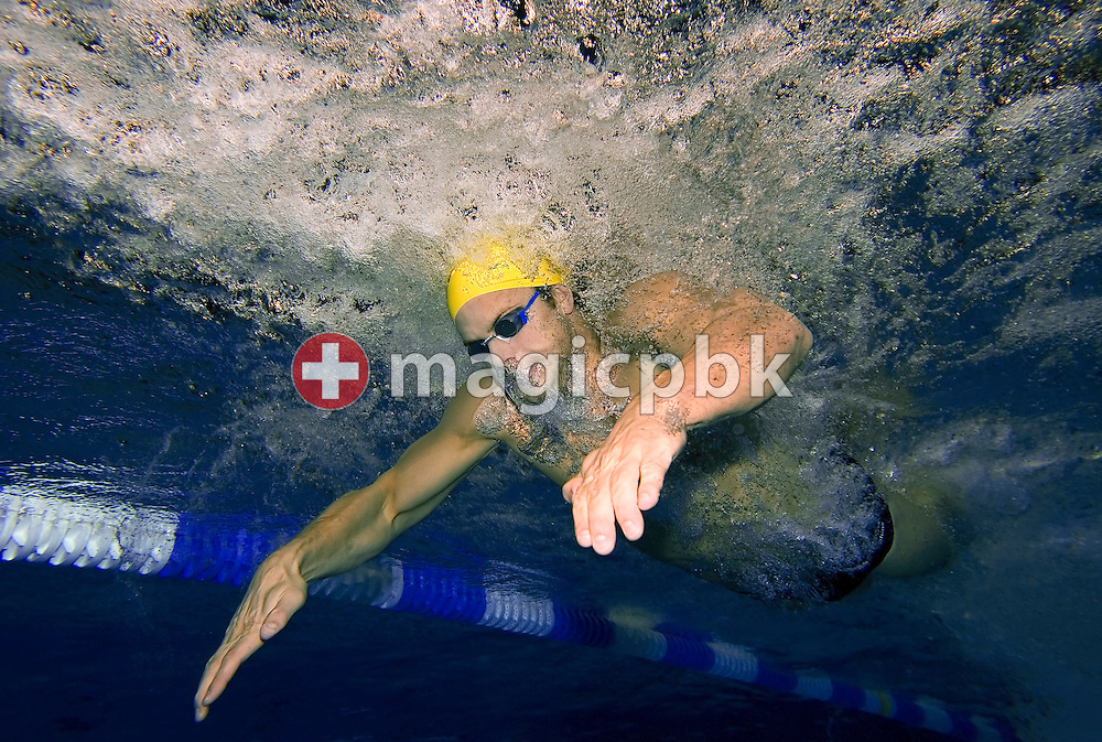 Andrew LAUTERSTEIN of Australia is pictured during an under water photo session in the Schwimm- und Sprunghalle Europa Sportpark after the evening session at the Fina Swimming World Cup in Berlin, Germany, Saturday 17 November 2007. (Photo by Patrick B. Kraemer / MAGICPBK)