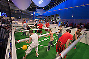 The IFA (Internationale Funkausstellung) in Berlin is the World's biggest trade fair for consumer electronics..Grundig mega-table soccer to promote HDTV.
