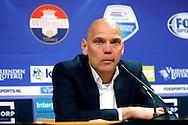 17-04-2016 VOETBAL:WILLEM II-ADO DEN HAAG:TILBURG<br /> Trainer/Coach Jurgen Streppel van Willem II tijdens de persconferentie <br /> <br /> Foto: Geert van Erven