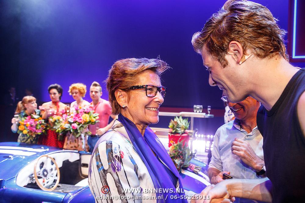 NLD/Tilburg/20150913 - Premiere musical Grease, Tim Douwsma en Janine van der Ende - Klijburg