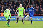 AFC Wimbledon defender George Francomb (7) controlling the ball during the EFL Sky Bet League 1 match between AFC Wimbledon and Peterborough United at the Cherry Red Records Stadium, Kingston, England on 17 April 2017. Photo by Matthew Redman.