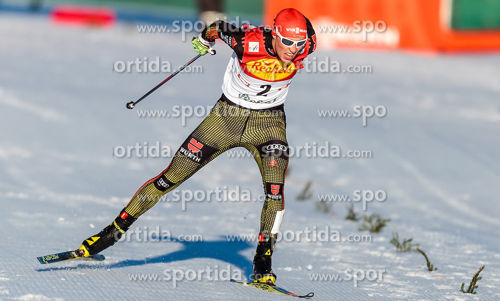 29.01.2016, Casino Arena, Seefeld, AUT, FIS Weltcup Nordische Kombination, Seefeld Triple, Langlauf, im Bild Fabian Riessle (GER) // Fabian Riessle of Germany reacts after 5km Cross Country Gundersen Race of the FIS Nordic Combined World Cup Seefeld Triple at the Casino Arena in Seefeld, Austria on 2016/01/29. EXPA Pictures © 2016, PhotoCredit: EXPA/ JFK