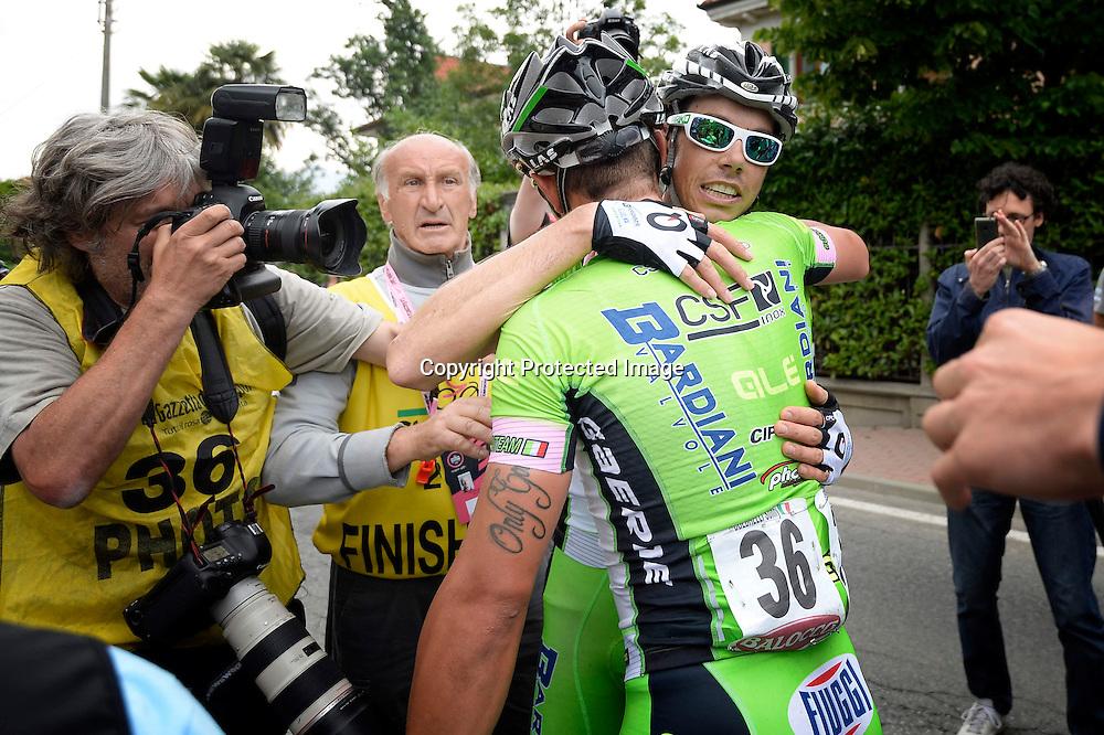 foto Fabio Ferrari - LaPresse<br /> 23 05 2014 Rivrolo, Torino (Italia)<br /> sport<br /> Giro d'Italia 2014 - 13a tappa - Rvarolo-Fossano Canavese.<br /> nella foto: durante la gara.Canola Marco -Ita- (Bardiani Csf) vincitore di tappa<br /> <br /> photo Fabio Ferrari - LaPresse<br /> 23 05 2014  Barbaresco, Alba (Italia)<br /> sport<br /> Giro d'Italia 2014 - 13th stage -Rvarolo-Fossano Canavese.<br /> In the picture:during the race.Canola Marco -Ita- (Bardiani Csf)