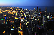 Photo By Michael R. Schmidt.A Chicago skyline view, looking northeast from the Willis (Sears) Tower. 2012.