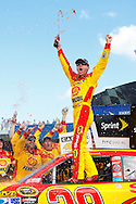 August 15, 2010: Kevin Harvick (29) celebrates his win of  the CARFAX 400 NASCAR Sprint Cup Series at Michigan International Speedway in Brooklyn, Michigan.