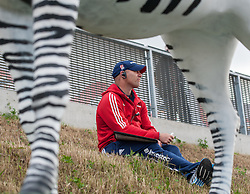 England Acting Head Coach, Danny Kerry, watches the Final of the Investec London Cup between England and South Africa. Lee Valley Hockey & Tennis Centre, London, UK on 13 July 2014. Photo: Simon Parker