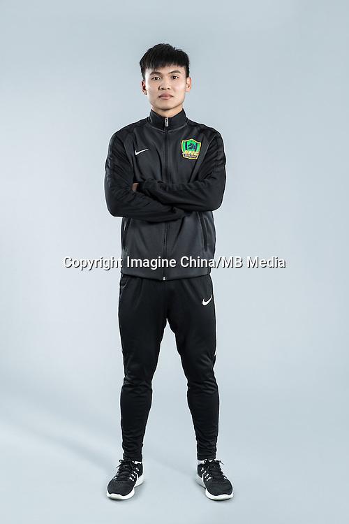 Portrait of Chinese soccer player Chen Zewen of Guizhou Hengfeng Zhicheng F.C. for the 2017 Chinese Football Association Super League, in Guiyang city, southwest China's Guizhou province, 23 February 2017.