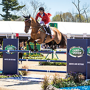 Waylon Roberts (CAN) and Kelecyn Cognac during the show jumping phase of the 2018 Land Rover Kentucky Three-Day Event in Lexington, Kentucky