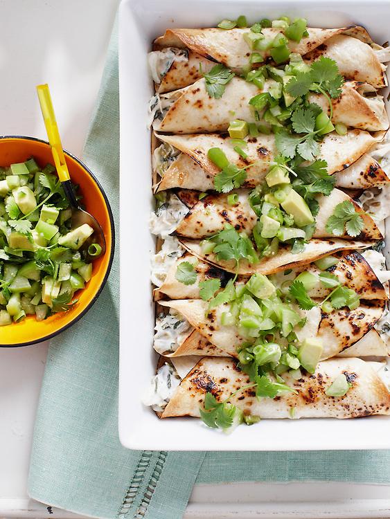 Chicken Enchiladas with a Fresh Salsa Verde