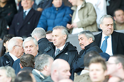 MANCHESTER, ENGLAND - Sunday, March 23, 2008: Liverpool's Chief-Executive Rick Parry and Honorary Life President David Moores during the Premiership match at Old Trafford. (Photo by David Rawcliffe/Propaganda)