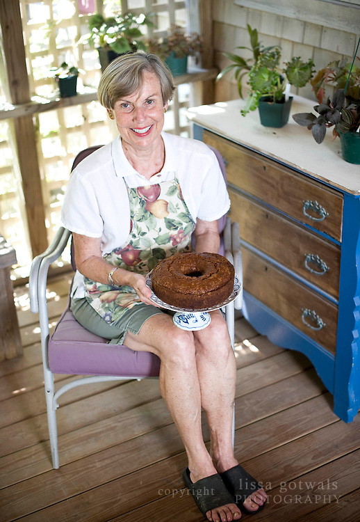 Carol Ritchie and her traditional fig cake.