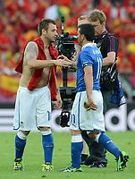 """Antonio DI NATALE, Antonio CASSANO (Italia)<br /> Danzica 10/06/2012  """"GDANSK ARENA""""<br /> Football calcio Europeo 2012  Spagna Vs Italia <br /> Football Calcio Euro 2012<br /> Foto Insidefoto Alessandro Sabattini"""