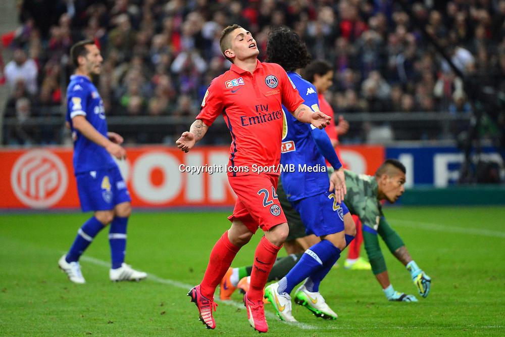 Marco VERRATTI    - 11.04.2015 -  Bastia / PSG - Finale de la Coupe de la Ligue 2015<br />Photo : Dave Winter / Icon Sport