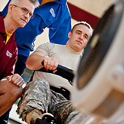 Walter Reed Hospital, Training for PAraympics<br /> Wheelchair basketball