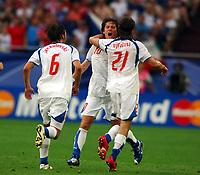 World Cup 2006 Germany Gelsenkirchen 12/06/2006<br />USA  v Czechoslovakia <br />Tomas Rosicky (Czech) celebrates  second goal<br />Photo Roger Parker Fotosports International