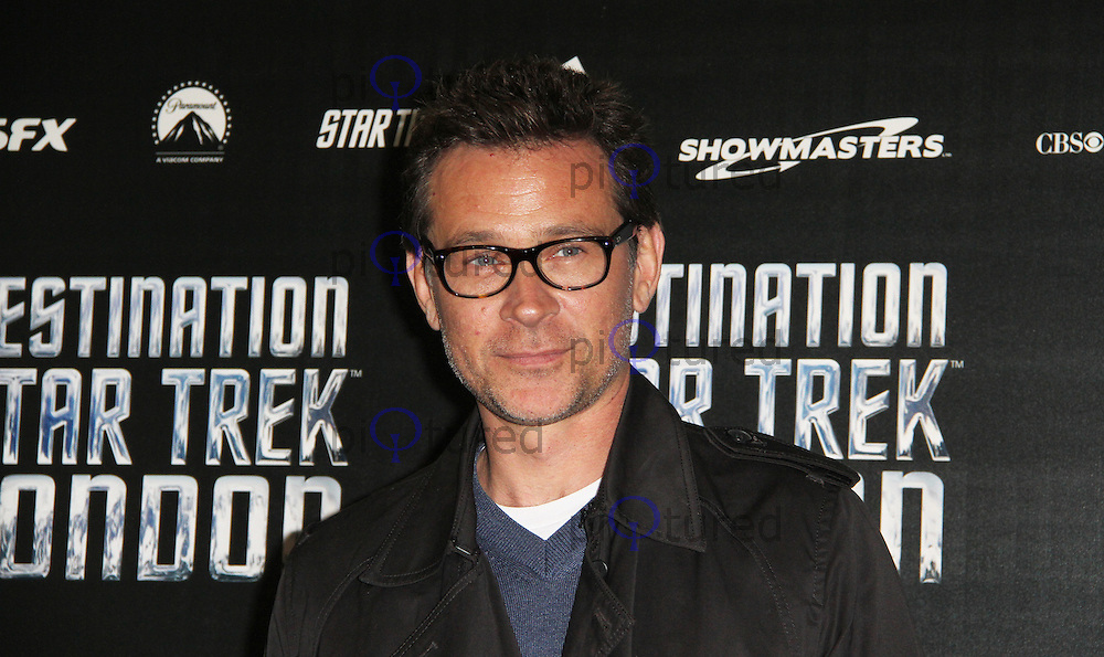 LONDON - OCTOBER 19: Connor Trinneer attended 'Destination Star Trek London' at the ExCel Centre London, UK, October 19, 2012. (Photo by Richard Goldschmidt)